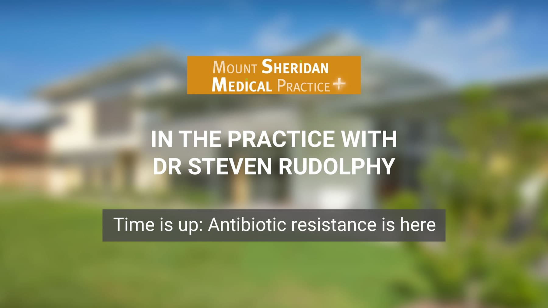 Time is up: Antibiotic resistance is here